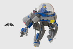 Benny's spacemech, SpaceMech, SPACEMECH! (clmntin.E) Tags: classic movie lego space military hard mini future scifi benny spaceship futuristic mecha mech povray mocs minifigure the emmet wyldstyle afol ldd exo miniland mixel hardsuits minifigurine exosuits spacemech