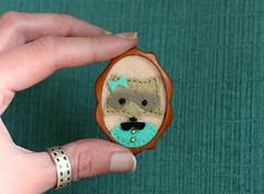 Starla (Button Arcade) Tags: animal pin brooch etsy mahogany buttonarcade