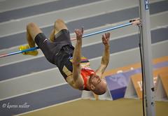 High Jump - Germany's Martin GUNTHER (kfjmiller) Tags: germany athletics nikon january running grandprix trackandfield highjump 2015 300mmf4 d7000 emiratesarena martingunther