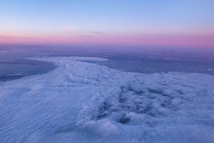 SkyGazing (ipopphoto) Tags: sunset sky cloud clouds airplane landscape flying bluesky airbus airplanewindow jetliner purplesky airasia highinthesky riverinthesky asiaair endlesscloud