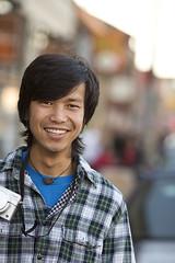 3919 Yosan Street Photographer (eyepiphany) Tags: smile portland portlandoregon streetphotographer beautifulsmile hawthorneboulevard hawthorneneighborhood joyofphotography buckmanneighborhood lumexcamera