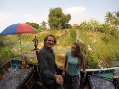 Photo de 14h - Terrasse de notre guesthouse (Thaïlande - Sangkhom) - 24.01.2015