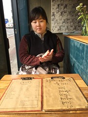 Jinhee at Slow Food