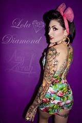 Lola Diamond (Amy Zarah) Tags: fashion photography model colours purple amy may lola flamingos diamond violets alternative zarah