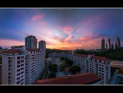Wager on Dawn (HakWee) Tags: sunset singapore hdb telokblangah reflectionsatkeppelbay