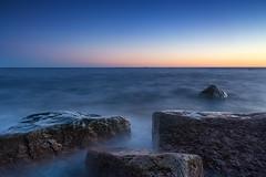 Sunset in Emäsalo 9.3.2015 (Jari Johnsson) Tags: blue sunset sky canon finland landscape rocks seascapes wideangle porvoo emäsalo leefilters