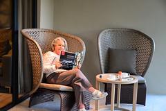 Reading on the Verandah (RobW_) Tags: africa reading march estate wine south jordan western tuesday cape verandah suite luxury stellenbosch ritsa kloof 2015 mar2015 10mar2015
