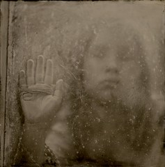 Behind the Window (angiebrockey) Tags: art conceptual outside mystery little girl twine window light antique wood glass dirty hand nature inside portrait black white blackwhite ghost wet plate collodion wetplatecollodion tintype ambrotype analog concept blackandwhite angiepemberbrockey angie pember brockey silverandglass silver ethereal largeformat large format unique lf camera lfcamera