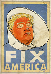 Fix America (The Searcher) Tags: poprelics derek chatwood illustration sketch drawing ink paint painting donald trump president presidential election politics political