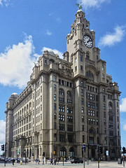 Liverpool - Royal Liver Building (fb81) Tags: uk greatbritain building liverpool three pier unitedkingdom head royal liver graces