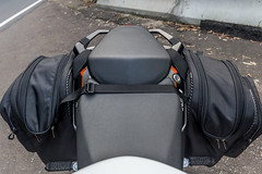 KTM Duke 390 2014, with ViaTerra Velox Saddlebags (top view, 2 bags mounted) (demawo) Tags: coffsharbour ktm ktmduke390 motorbike motorcycle viaterraveloxsaddlebags