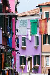 Isola di Burano (Penseroso) Tags: venice italy alley italia clotheslines burano veneto