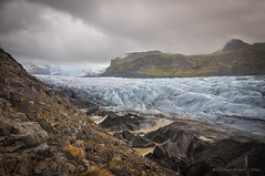 Skaftafell Glacier (Nicholas Olesen Photography) Tags: iceland europe horizontal nature outdoors outside glacier ice cold storm sky clouds mountains hiking hike rocks travel nikon d90