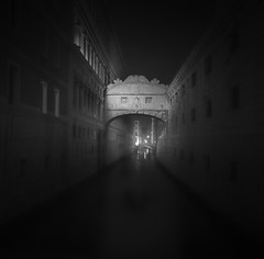 Bridge of Sighs (vulture labs) Tags: venice blackandwhite fog night bridgeofsighs sanmarco fineartphotography