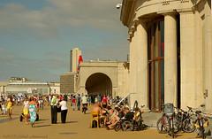 Belgian coast (Natali Antonovich) Tags: belgiancoast seasideresort seashore seaside seaboard lifestyle relaxation oostende architecture promenade bikes walking walk belgium belgique belgie