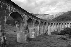 hurry up harry (plot19) Tags: harry potter scotland scotish scene highlands hills nikon north northwest northern plot19 photography uk britain blackandwhite black blackwhite landscape bridge viaduct