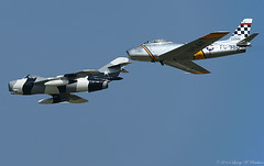 Air Power (Fly Sandman) Tags: eaa airventure oshkosh airshow airplane aircraft formationflight jet fighter mig17f f86 sabre sabrejet warbird koreanwar soviet vietnamwar american