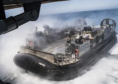 An LCAC embarks USS Somerset. (Official U.S. Navy Imagery) Tags: welldeckops welldeck lcac usssomerset somerset lpd25 pmint sailors marines 11thmeu mkiarg us navy integratedtraining sandiego bluegreenteam amphibious camppendleton calif unitedstates
