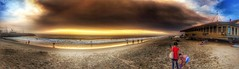 Fire in the sky #sunset (shinnygogo) Tags: sunset beach losangeles redondobeach california sand sky skyscape hdr summer waterfront socal wicked cloud outdoors pano ios iphone6