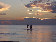 Adventure Club Paddleboarding Two People Calm Water Ocean Sunrise Sky And Clouds Horizon (Luvbucs2&@yahoo) Tags: adventureclub paddleboarding twopeople calm water ocean sunrise skyandclouds horizon