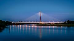 River Suir Bridge - Waterford (K.H.Reichert) Tags: bluehour night cablestayedbridge architektur reflection bridge river riverscape blauestunde spiegelung architecture brcke nightshot schrgseilbrcke fluss nachtfoto kilkenny irland ie