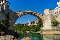 Mostar Bridge (Jaume Costa) Tags: mostar bosnia bridge most river cliffdiving diving redbull water puente rio riu aigua agua pont