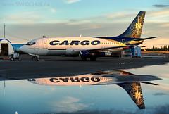 Stephen M. Fochuk_NRD (Stephen M. Fochuk) Tags: nolinor 737200 cgnrd nwt cyzf sunset northwestterritories cargo aviation