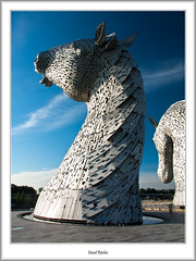The Kelpie Heads (flatfoot471) Tags: 2015 canal falkirk forthandclydecanal forthvalley normal scotland sculpture stirlingshire summer thekelpies unitedkingdom