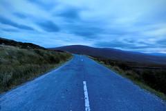 Blue Mountains (jonathon lynam) Tags: blue wicklow wicklowmountains cold windy breeze road pathway center bend landscape irish nikond40 nikon nikonphotography
