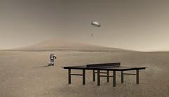 Ping pong on Mars (Lux Obscura) Tags: mars table helium ball gravity strategy zen meditation picnic slowtempo lento largo dream peaceful joyful simultaneity interactivity