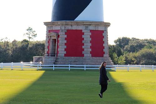 Marlena wandering around the lighthouse
