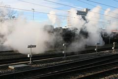Black Fives 44871 - 45407 @ Crewe (uksean13) Tags: black station train canon cheshire transport rail railway loco trains steam crewe locomotive railtour lms fives stanier ef28135mmf3556isusm 400d