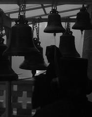 Monk #2 (Greg Neztekidis) Tags: travel bw monument fog bells canon greek eos monk greece monastery macedonia 7d l orthodox f28 timeless orthodoxy vespers standrew halkidiki lseries macedonian agion oros 2470 skete greecemacedonia