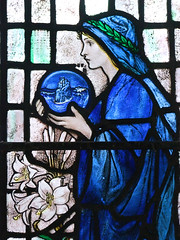 Edith Webster as Faith by Louis Davis (Simon_K) Tags: flowers roses portrait church girl model friend artist daughter churches stainedglass muse artnouveau workshop teenager wife violets lover cambridgeshire allsaints eastanglia younggirl artsandcrafts cambs longstanton