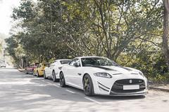 Too Many Letters (- Icy J -) Tags: white car hongkong wing fast hong kong jaguar gt v8 spoiler canards xkr xk xkrs
