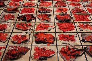 José Manuel Ciria. Instalacion Memoria Abstracta. 2013. Medidas variables. Cuadrados de 120 x 120 cm cada uno