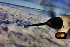 Dash-8  Pratt & Whitney (PGHAERIALS) Tags: clouds flying engine turbine dash8 bombardier