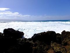 (erintheredmc) Tags: ocean travel blue winter vacation holiday beach volcano hawaii islands big paradise waves skies break fuji escape pacific oahu erin rocky tourist wanderlust hawaiian fujifilm february mccormack 2015 f900exr