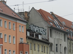 Thats (gehaktfles) Tags: black streets berlin rooftop silver germany graffiti paint thats graff