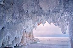 Flicker Of Melted Ice (karenhunnicutt) Tags: ice wisconsin lakesuperior apostleislands icecaves karenmeyere karenhunnicutt karenmeyer karenhunnicuttphotographycom