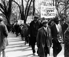 Blacks, Whites Protest Job Losses: 1930 No. 3 (washington_area_spark) Tags: party white house dc washington communist unemployed arrest picket 1930 jobless