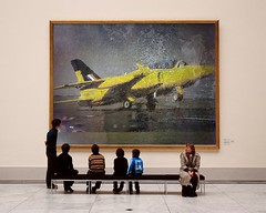Andy-Leonard-PhotoFunia (Frizztext) Tags: yellow museum airplane jet takeoff frizztext museumseries andyleonard photofunia