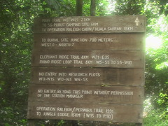 Trail Sign Danum Valley Research Center