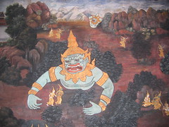 Demon Paintings at Wat Phra Kaew