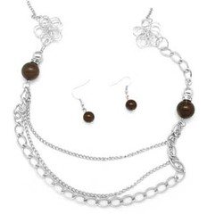 5th Avenue Brown Necklace P2320-3