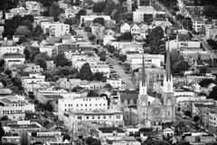 st. paul's (eb78) Tags: sf sanfrancisco blackandwhite bw church monochrome grayscale greyscale