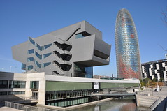 Barcelona. Design Museum. MBM (Martorell-Bohigas-Mackay-Capdevila-Gual) architects. 2001-2014. To the right, Torre AGBAR, Jean Nouvel architect (1999-2005) (Catalan Art & Architecture Gallery (Josep Bracons)) Tags: barcelona 2005 plaza david water museum architecture design avenida arquitectura agua eau torre museu jean catalonia musee diagonal catalunya mackay museo diseo aigua catalua catalan barcelone nouvel agbar oriol plaa catala 2014 mbm glorias josep catalogne glories bohigas disseny martorell avinguda gual capdevila bracons