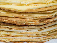 Stack of crepes (melastmohican) Tags: food hot cooking yellow cake horizontal closeup breakfast french recipe dessert cuisine golden healthy european sweet traditional egg cook tasty plate nobody fresh stack delicious homemade snack meal round crepe pancake thin flour preparing baked batter ingredient