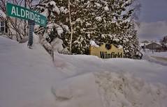 Buried Street Signs (evanlochem) Tags: new winter snow canada storm suburban buried deep brunswick pack record february snowfall heavy blizzard drifts banks maritimes quispamsis