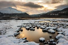 Arrochar Winter 2 (Gilmour-Photography) Tags: winter sunset snow ice water scotland twilight scottish rockpool gloaming arrochar lochlong scottishhighlands scottishcoast gloamin scottishhills scottishwinter